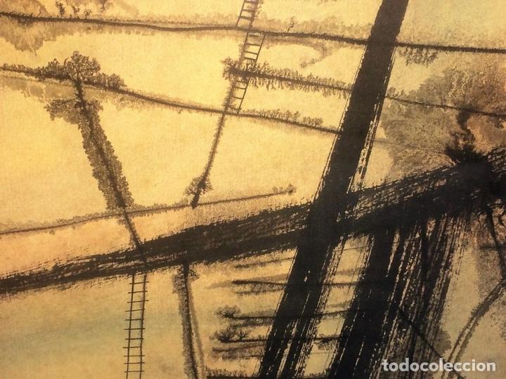 Arte: COMPOSICIÓN ABSTRACTA. ACUARELA SOBRE PAPEL. FIRMADO VILA MONCAU. ESPAÑA. SIGLO XX - Foto 6 - 115099667