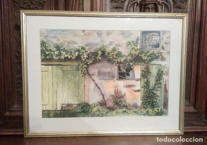 ACUARELA - JUDITH HAYES - BEAUJOLAIS COUNTRY - FIRMADA (Arte - Acuarelas - Contemporáneas siglo XX)