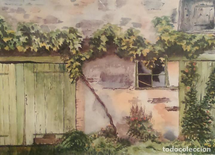 Arte: Acuarela - Judith Hayes - Beaujolais Country - firmada - Foto 2 - 115432167