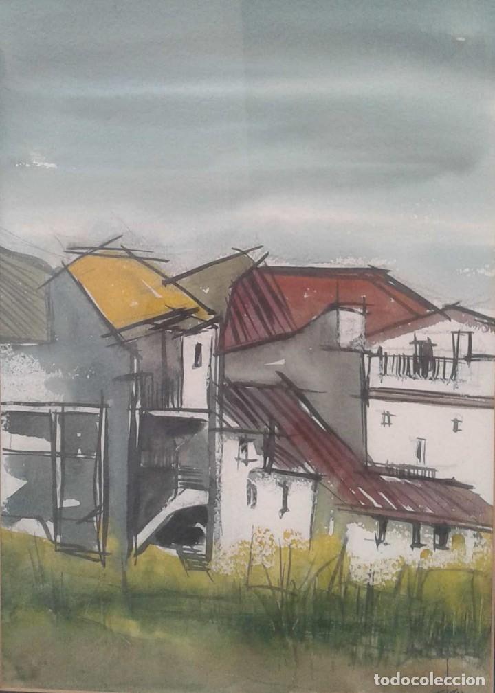 JOAQUIM DEU RUBI. PINTOR CATALÁN CONTEMPORÁNEO. EN 1984 EXPUSO EN LA GALERÍA INTEL-LECTE DE SABADELL (Arte - Acuarelas - Contemporáneas siglo XX)