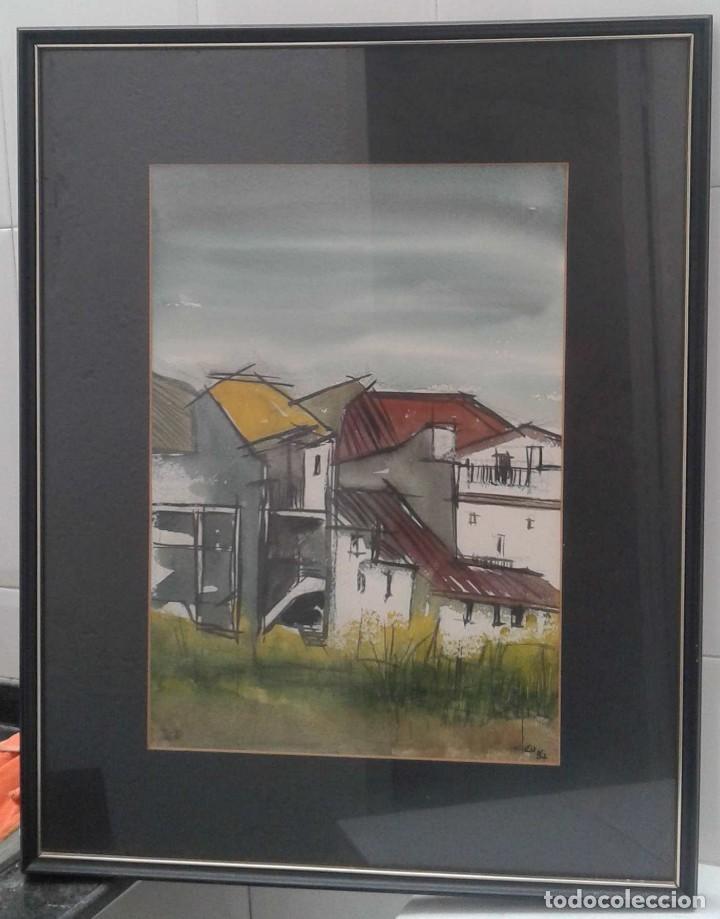 Arte: Joaquim Deu Rubi. Pintor catalán contemporáneo. En 1984 expuso en la Galería Intel-lecte de Sabadell - Foto 2 - 115503991