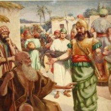 Arte: FRANK ADAMS (USA, 1914 - 1987) ACUARELA SOBRE PAPEL. ESCENA BIBLICA. Lote 115698775