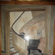 Arte: EN CASA DE UN AMIGO. ACUARELA, 52X72. FIRMA CON SIGLAS, J.L.A. Y FECHA 10-08. Lote 115775119