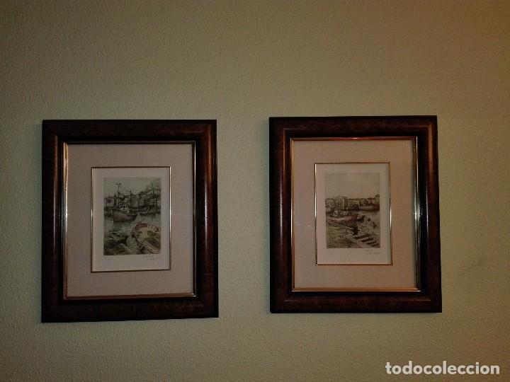2 ACUARELAS XABIER OBESO 1989 (Arte - Acuarelas - Contemporáneas siglo XX)
