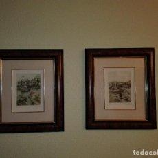 Arte: 2 ACUARELAS XABIER OBESO 1989. Lote 116216563