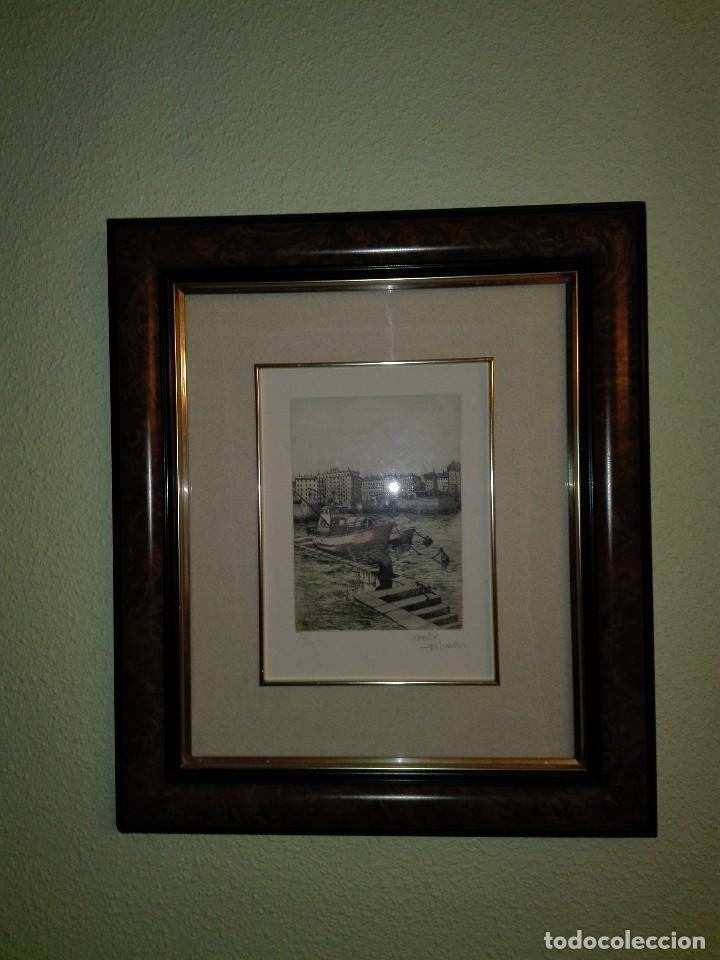 Arte: 2 ACUARELAS XABIER OBESO 1989 - Foto 2 - 116216563