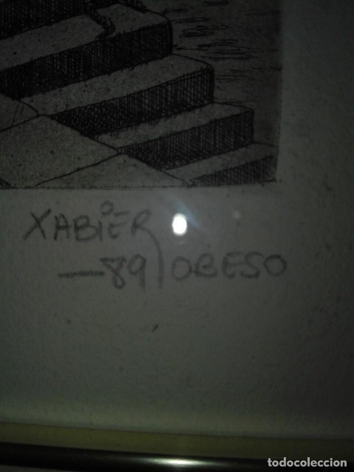 Arte: 2 ACUARELAS XABIER OBESO 1989 - Foto 3 - 116216563