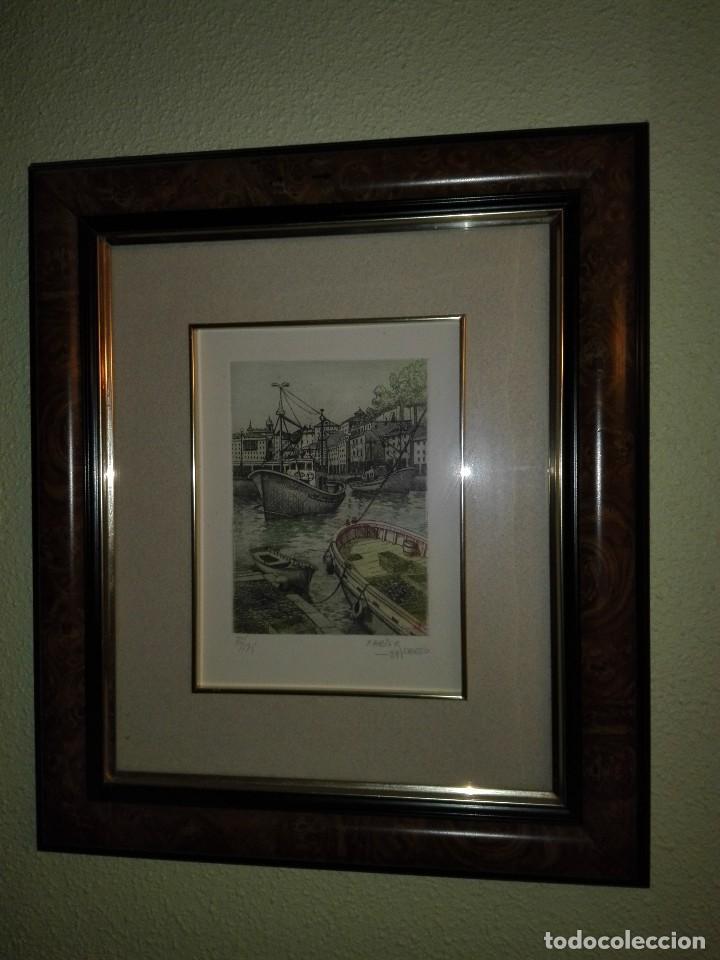 Arte: 2 ACUARELAS XABIER OBESO 1989 - Foto 4 - 116216563
