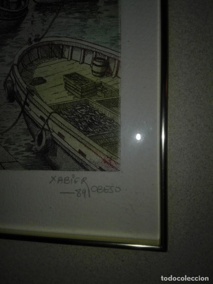 Arte: 2 ACUARELAS XABIER OBESO 1989 - Foto 5 - 116216563