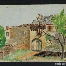 Arte: ACUARELA SOBRE PAPEL LA VOLTA DE CAL BROS FIRMADO Y FECHADO MUSONS 1940. Lote 116259595
