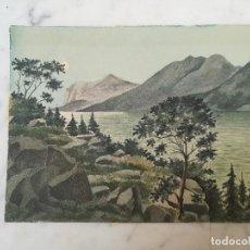 Arte: DIBUJO ACUARELA ORIGINAL ACUARELA FIRMADO CL. Lote 116407731
