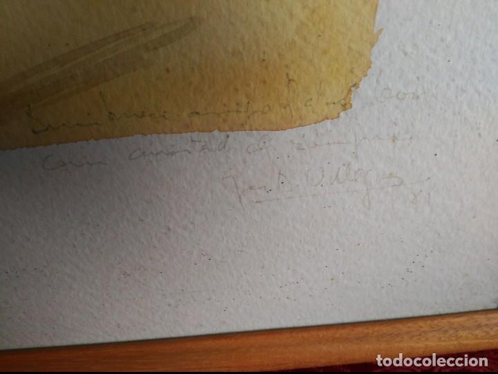 Arte: cadiz acuarela marina de gran formato firmada y dedicada 1981 jose antonio villegas 1981.enmarcada - Foto 3 - 116826239