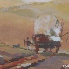 Arte: ACUARELA DE G. DE VALDÉS DE ESCENA COSTUMBRISTA. FIRMADA Y DEDICADA A MARTÍNEZ TERRÓN. Lote 116862131
