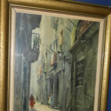 Arte: (M) ACUARELA DE MARIANO BRUNET 1952 , ENMARCADO , 65 X 54 CM, BUEN ESTADO. Lote 117047327