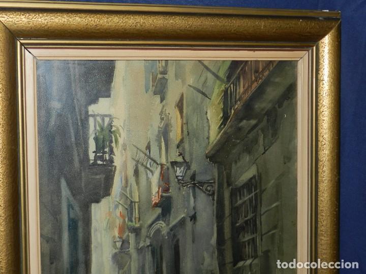 Arte: (M) ACUARELA DE MARIANO BRUNET 1952 , ENMARCADO , 65 X 54 CM, BUEN ESTADO - Foto 3 - 117047327