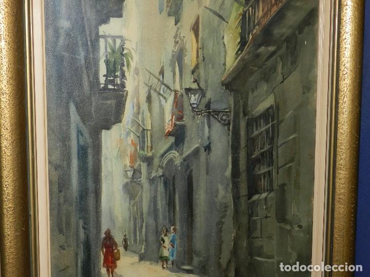 Arte: (M) ACUARELA DE MARIANO BRUNET 1952 , ENMARCADO , 65 X 54 CM, BUEN ESTADO - Foto 4 - 117047327