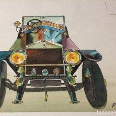 Arte: MONNERAT, PIERRE (SUIZA 1917-ESPAÑA 2005), ROLLS ROYCE TORPEDO. Lote 117233295