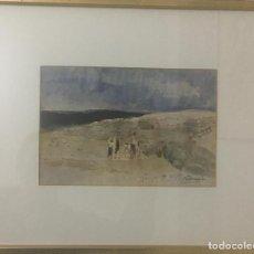 Arte: AGUSTÍN REDONDELA. PASEO EN BICICLETA. Lote 117388723
