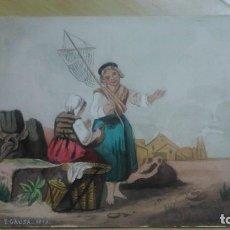 Arte: ESCENA DE PESCA FECHADA EN 1879 TAMBIÉN FIRMADA P.GAUSA. Lote 117513587