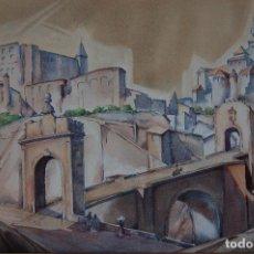 Arte: MARGUERITE ZWICKER 1904-93 PLEASANT VALLEY. ACUARELA DE 49X34. ENMARCADA EN 61X47. BUEN ESTADO.. Lote 118050831