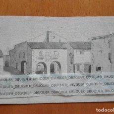 Arte: ACUARELA DE LA ANTIGUA PLAÇA DE LA CONSTITUCIÓ DE SANT BOI DE LLOBREGAT CA. 1860. Lote 118154811