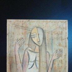 Arte: WILFREDO LAM ARTISTA CUBANO ACUARELA SOBRE PAPEL FIRMADA. Lote 118313599