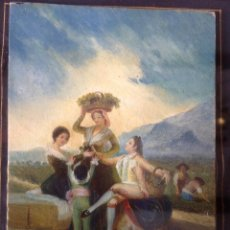 Arte: ANTIGUA MINIATURA PINTADA , ORIGINAL FIRMADA JOSE MESSEGUER , GRAN MINIATURISTA . Lote 118490175