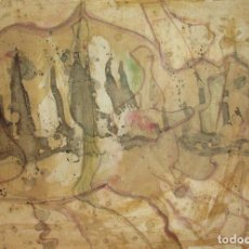 Arte: ANÓNIMO TÉC.MIX/CARTULINA 50 X 35 CM. COMPOSICIÓN. AÑOS 90. (A LA MANERA DE BARCELÓ). Lote 118558127