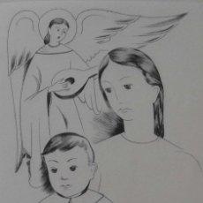 Arte: ELS GRAVADORS DE LA ROSA VERA 1955 NACIMIENTO FELICITACIÓN NAVIDAD. DE JAUME PLA FIRMADO A LAPIZ. Lote 118887831