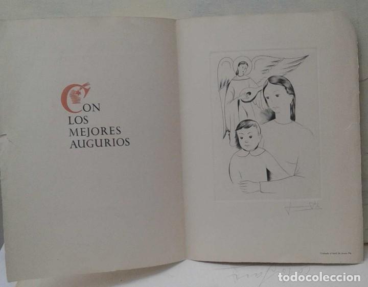 Arte: Els Gravadors de la Rosa Vera 1955 Nacimiento felicitación navidad. de Jaume Pla firmado a lapiz - Foto 3 - 118887831