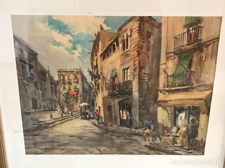 MARIANO BRUNET (Arte - Acuarelas - Contemporáneas siglo XX)