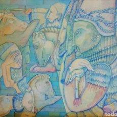 Arte: LAURENT HOURS (PARIS 1946) PRECIOSA ACUARELA SIN FIRMAR.. Lote 119131682