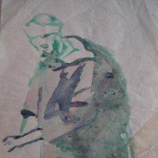 Arte: ACUARELA POR MANUEL LAHOZ VALLE,PINTOR Y GRABADOR ARAGONÉS.ÁRABE.ÁRABE.MARRUECOS,CEUTA.. Lote 119324291