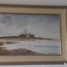 Arte: ACUARELA DE ANGELA WHEELDON. AÑO 1992. TITULO: RAINING ON THE LAKE.. Lote 119370827