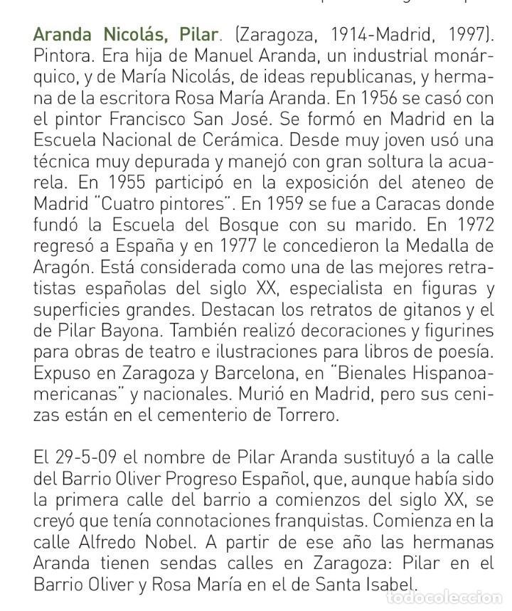 Arte: PILAR ARANDA NICOLÁS (Zaragoza 1914- Madrid 1997) Acuarela con retrato femenino(64x50cm) - Foto 9 - 119454299