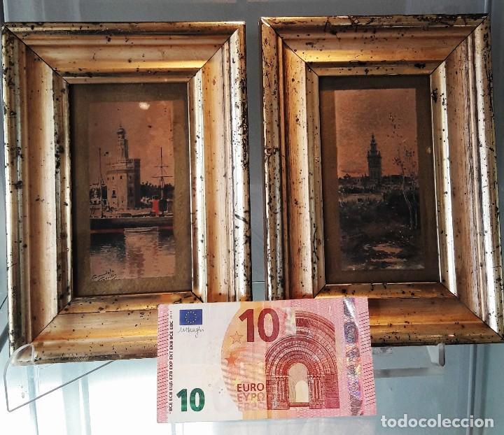Arte: Pareja de acuarelas con escenas sevillanas. Siglo XIX firmadas Candela - Foto 9 - 180944067