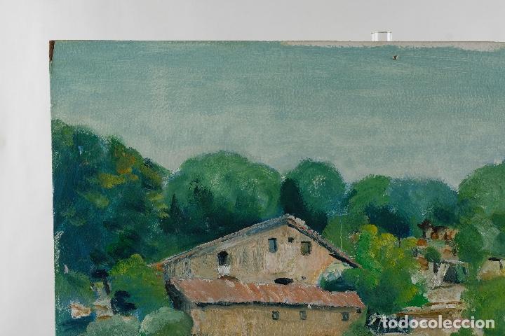 Arte: Rafel Serrahima Gouache sobre táblex Paisaje tercer tercio siglo XX - Foto 3 - 119697295