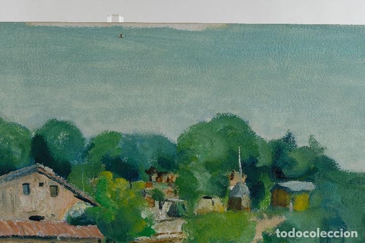 Arte: Rafel Serrahima Gouache sobre táblex Paisaje tercer tercio siglo XX - Foto 5 - 119697295