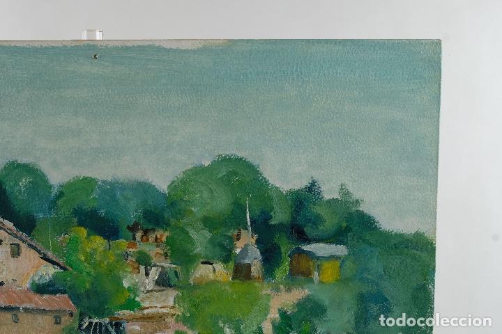 Arte: Rafel Serrahima Gouache sobre táblex Paisaje tercer tercio siglo XX - Foto 6 - 119697295