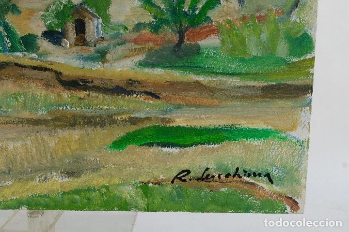 Arte: Rafel Serrahima Gouache sobre táblex Paisaje tercer tercio siglo XX - Foto 10 - 119697295