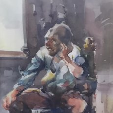 Arte: JAVIER VARELA GUILLOT - ACUARELA SOBRE PAPEL. Lote 119893043