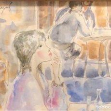 Arte: ACUARELA SOBRE PAPEL - MORATÓ ARAGONÈS - FIRMADA. Lote 119963043