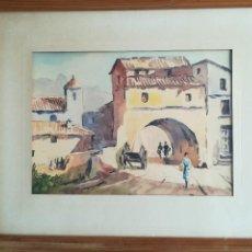 Arte: ILEGIBLE , PUEBLO , ACUARELA S/PAPEL ,FDO. FCHADO. 62 , SALVO ERROR MED . 21 X 28 . Lote 120099131