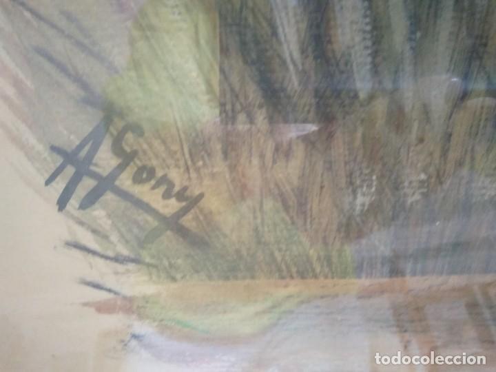 Arte: ACUARELA FIRMADA POR A. GONY. 55.5 X 69 CM. - Foto 3 - 120110499