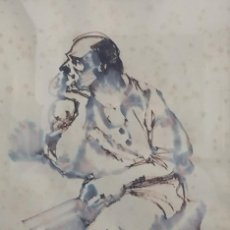 Arte: ACAURELA SOBRE PAPEL JAVIER VARELA GUILLOT 1982. Lote 120230163