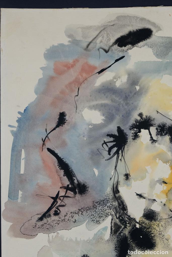 Arte: Acuarela sobre papel Rostro femenino firma ilegible tercef tercio siglo XX - Foto 4 - 120231527