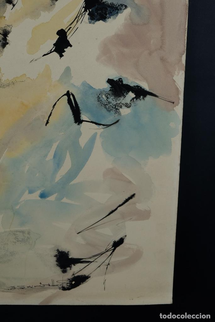 Arte: Acuarela sobre papel Rostro femenino firma ilegible tercef tercio siglo XX - Foto 7 - 120231527