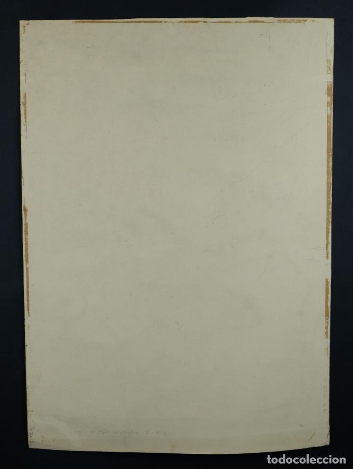 Arte: Acuarela sobre papel Rostro femenino firma ilegible tercef tercio siglo XX - Foto 10 - 120231527