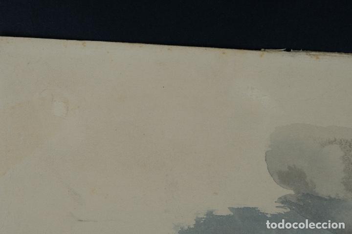 Arte: Acuarela sobre papel Rostro femenino firma ilegible tercef tercio siglo XX - Foto 12 - 120231527