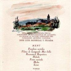 Arte: ACUARELA ORIGINAL PINTOR LLUIS LLEÓ ARNAU,AÑO 1944,DIBUJANTE CARTEL GUERRA CIVIL ESPAÑOLA UGT Y POU. Lote 120456647